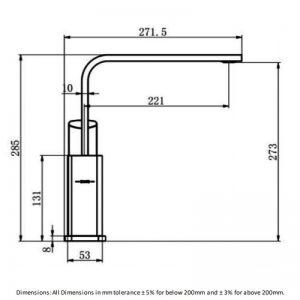 RAK Lisbon Kitchen Sink Mixer Tap Side Lever Handle – Chrome