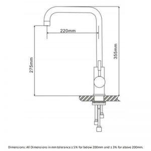 RAK Vienna One Touch Kitchen Sink Mixer Tap Single Lever Handle – Chrome