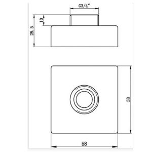 RAK Exposed Square Shower Bar Mixer Easy Fitting Kit – Pair