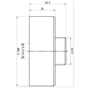 RAK Exposed Round Shower Bar Mixer Easy Fitting Kit – Pair