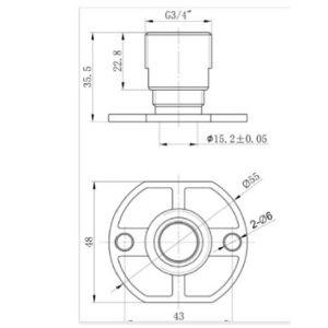 RAK Exposed Shower Bar Mixer Easy Fitting Kit – Pair