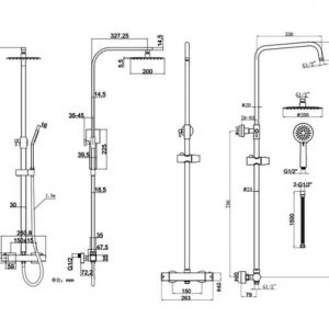 RAK Origin Thermostatic Shower Column Chrome
