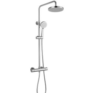 RAK Cool Touch Round Thermostatic Complete Mixer Shower – Chrome