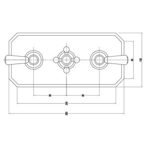 RAK Washington Triple Outlet Thermostatic Concealed Shower Valve – Chrome
