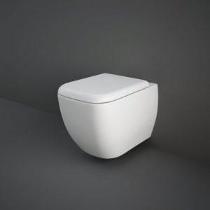 RAK Metropolitan Rimless Wall Hung Toilet Hidden Fixations 525mm Projection – Soft Close Seat
