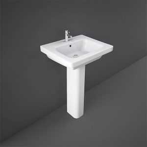 RAK Resort Basin with Full Pedestal- 550mm Wide
