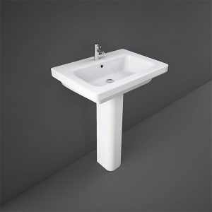 RAK Resort Basin with Full Pedestal- 650mm Wide