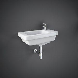 RAK Resort Slimline Cloakroom Basin- 450mm Wide