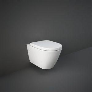 RAK Resort Rimless Wall Hung Toilet Wrap Over Soft Close Seat