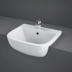 RAK Series 600 Semi-Recessed Basin 420mm Wide 1 Tap Hole | S60042SR1