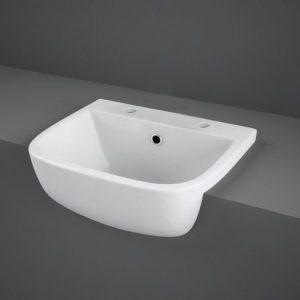 RAK Series 600 Semi-Recessed Basin 420mm Wide 2 Tap Hole | S60042SR2