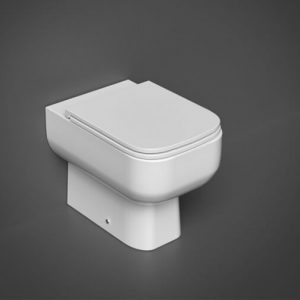 RAK Series 600 Rimless Back to Wall Toilet With Soft Close Seat – White