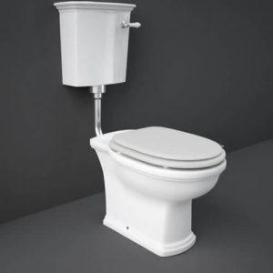 RAK Washington Low Level WC Pack with Matt White Soft Close Seat (Wood)
