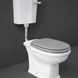 RAK Washington Low Level WC Pack Matt Grey Soft Close Seat (Wood)