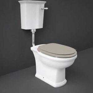 RAK Washington Low Level WC Pack Matt Cuppuccino Soft Close Seat (Wood)