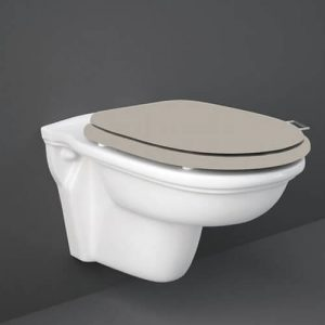 RAK Washington Wall Hung Toilet with Matt Cuppuccino Soft Close Seat (Wood)