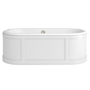 Burlington London Double Ended Bath 1800mm x 850mmMatt White