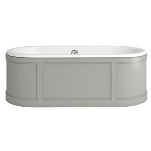 Burlington London Double Ended Bath 1800mm x 850mm Dark Olive