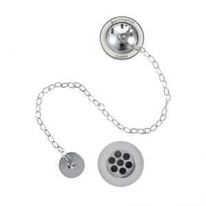 Burlington Burlington  Bath Overflow, Plug & Chain – With Medici Ceramic