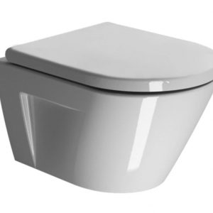 Gsi Kube Norm 50 Wall Hung Toilet With Seat – 500mm X 360mm – White
