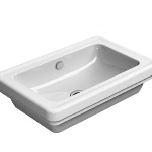 Gsi Classic 600 X 400mm Countertop Basin – No TH – White