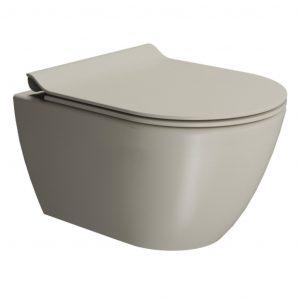 Gsi Pura 500mm X 360mm Wall Hung Toilet With Seat And Swirlflush – Creta