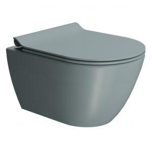 Gsi Pura 500mm X 360mm Wall Hung Toilet With Seat And Swirlflush – Ghiaccio