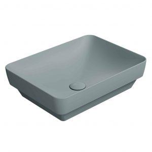 Gsi Pura 500mm X 380mm Countertop Basin – No TH – Ghiaccio