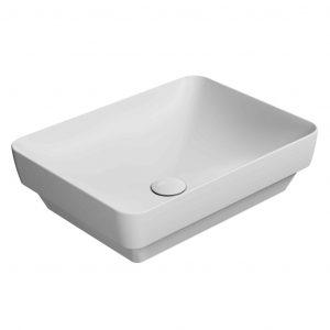Gsi Pura 500mm X 380mm Countertop Basin – No TH – Cenere