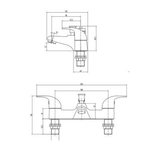 RAK Basic Bath Shower Mixer Tap – Chrome