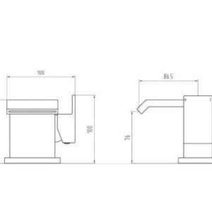 RAK Art Cubis Mono Basin Mixer Tap – Chrome