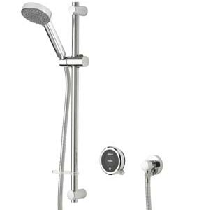 Aqualisa Quartz Touch Smart Concealed Shower with Ceiling Mounted Fixed & Adjustable Hp/Combi