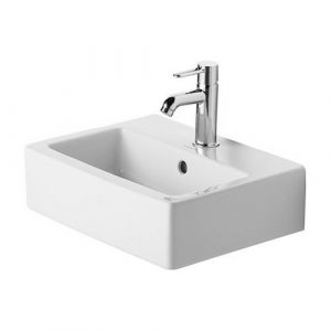 Duravit – Basins – Vero Handrinse Basin – 450mm Wide –  1TH Ground  – White