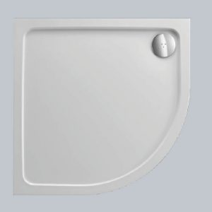 Just Tray Jtfusion Offset Quadrant Shower Tray with Waste – 1200mm X 800mm – Astro Black – Left handed