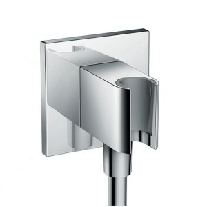 Hansgrohe Fixfit Wall Outlet Square with Shower Holder – Chrome