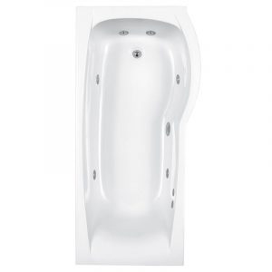 Carron Delta Single Ended Whirlpool System 1 Wellness Bath Carronite – 1700mm x 800mm – Right Handed