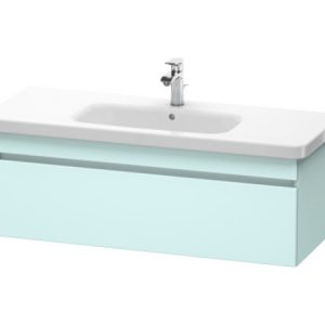 Duravit DuraStyle 1 Pull Out Compartment Vanity Unit And Basin – 0 TH – 1130mm Wide – Light Blue Matt