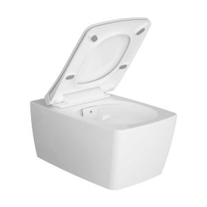 Vitra Aquacare M-Line Rimless Wall Hung Bidet Toilet With Soft-close seat – White