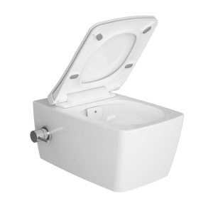 Vitra Aquacare M-Line Wall Hung Bidet Toilet With Soft-close seat – White