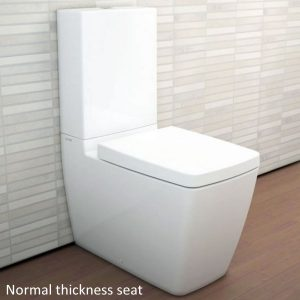 VitrA M-Line Back To Wall Close Coupled Toilet and cistern With Soft Close Seat – White