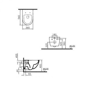 Rimless Wall Hung Toilet and Slim soft close seat and cover with chrome hinges – Matt Taupe