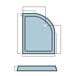Eastbrook Volente Offset Quadrant Shower Tray – 1100mm x 700mm – Right Handed – White