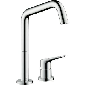 Hansgrohe Axor Citterio 2-Hole Single Lever Kitchen Mixer Tap With Swivel Spout Eco Spray – Chrome