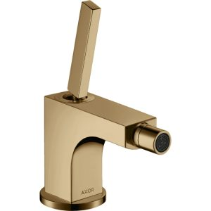 Hansgrohe Axor Citterio Single Lever Bidet Mixer Tap With Pop-Up Waste – Polished Bronze