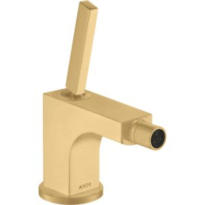 Hansgrohe Axor Citterio Single Lever Bidet Mixer Tap With Pop-Up Waste – Brushed Gold Optic