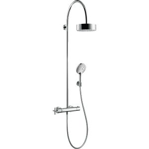 Hansgrohe Axor Citterio Shower pipe With Thermostatic Mixer And 1Jet Overhead Shower – Chrome