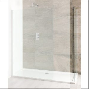 Eastbrook Volente Walk in Front Panel – 1000mm Wide – 6mm Thick – Silver