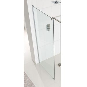 Eastbrook Corniche Walk-In Front Panel – 1700mm Wide – 8mm Thick – Silver