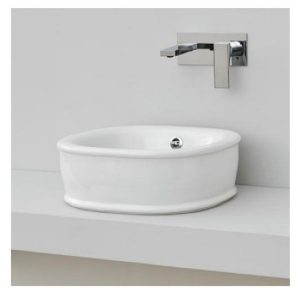 Eastbrook Enza Sit on countertop basin – 450mm Wide – White