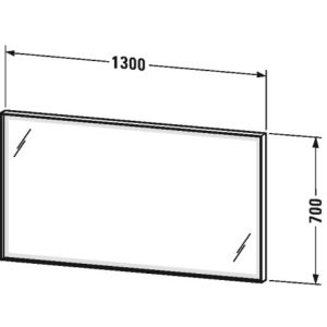 Duravit L-Cube Mirror With LED Lighting – 700mm x 1300mm